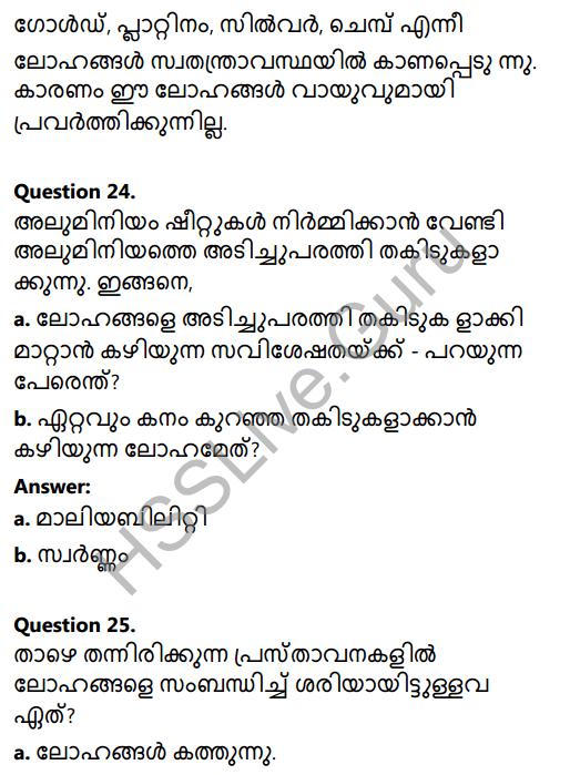 Kerala Syllabus 8th Standard Basic Science Solutions Chapter 7 Metals in Malayalam 17