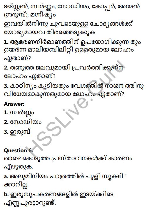 Kerala Syllabus 8th Standard Basic Science Solutions Chapter 7 Metals in Malayalam 5