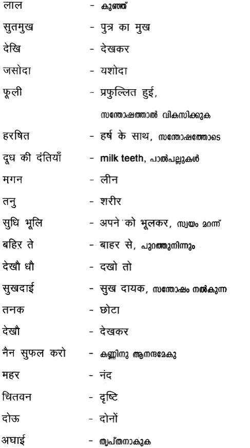 Plus Two Hind Textbook Answers Unit 2 Chapter 2 मेरे लाल (पद) 8