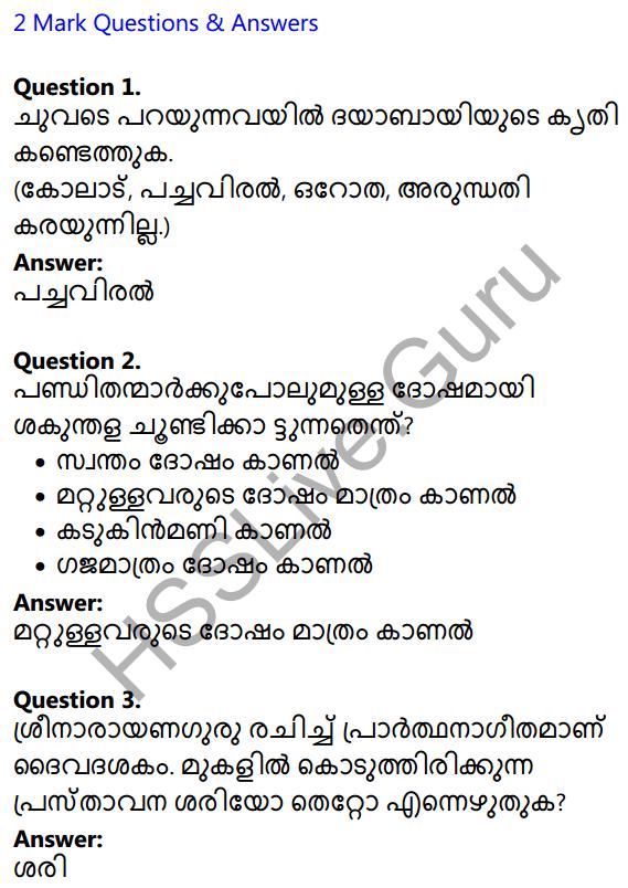 Plus Two Malayalam Textbook Answers Unit 1 Chapter 1 Kannadi Kanmolavum 1