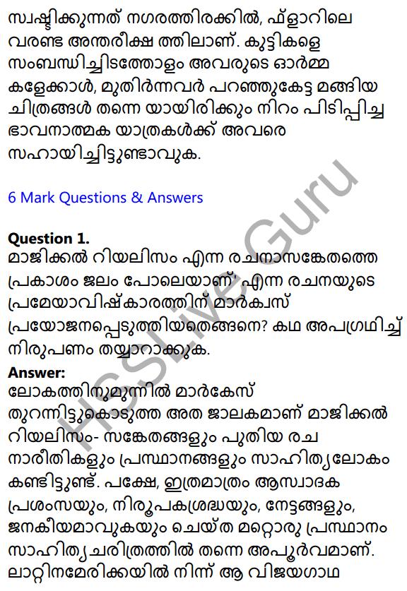Plus Two Malayalam Textbook Answers Unit 1 Chapter 2 Prakasam Jalam Pole Anu 15