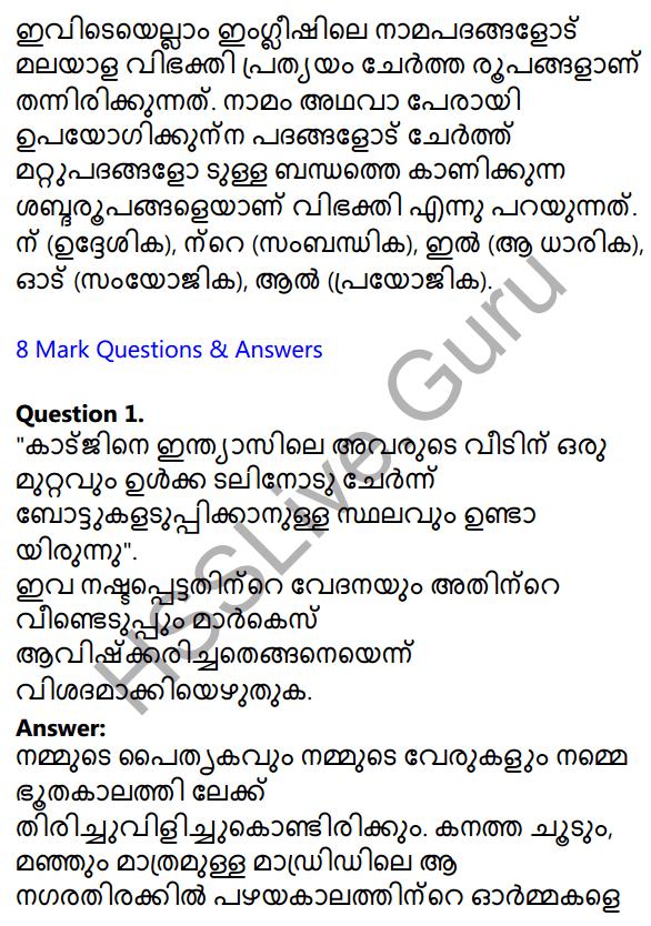 Plus Two Malayalam Textbook Answers Unit 1 Chapter 2 Prakasam Jalam Pole Anu 33