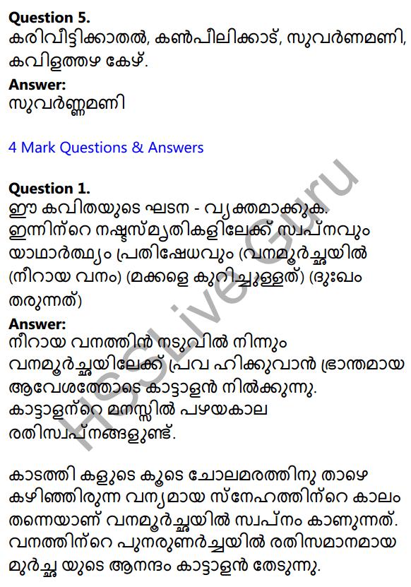 Plus Two Malayalam Textbook Answers Unit 1 Chapter 3 Kirathavritham 2
