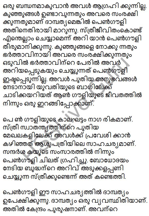 Plus Two Malayalam Textbook Answers Unit 3 Chapter 2 Gauli Janmam 28