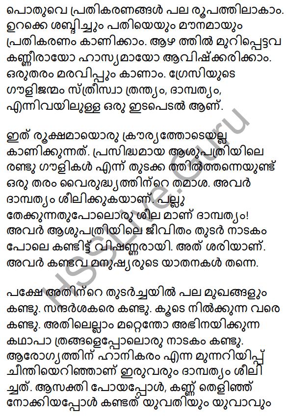 Plus Two Malayalam Textbook Answers Unit 3 Chapter 2 Gauli Janmam 36