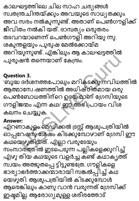 Plus Two Malayalam Textbook Answers Unit 3 Chapter 2 Gauli Janmam 58