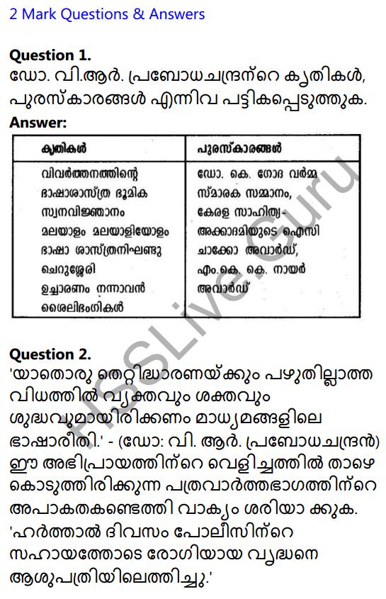 Plus Two Malayalam Textbook Answers Unit 4 Chapter 2 Madhyamavicharam 1