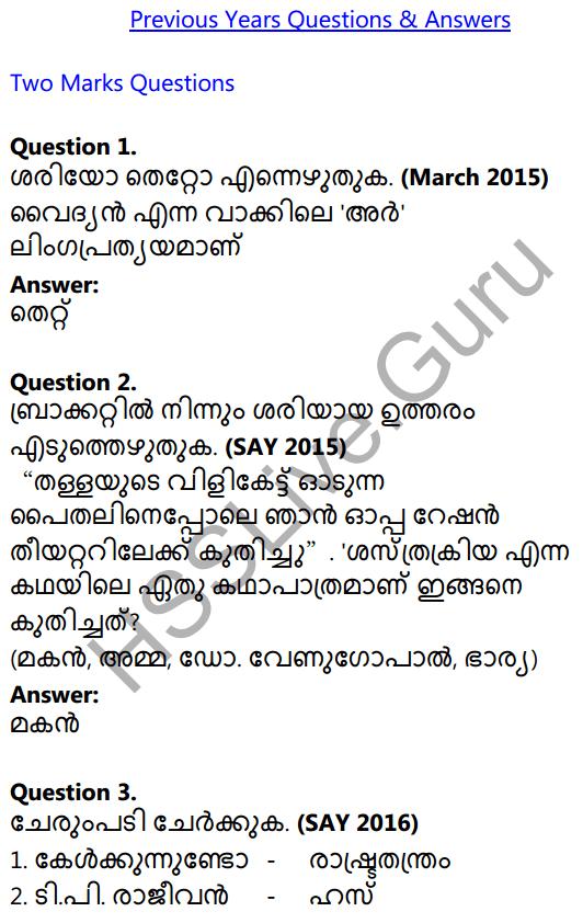 Plus One Malayalam Textbook Answers Unit 4 Chapter 6 Shasthrakriya 46
