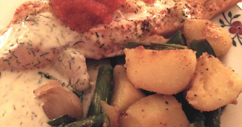 Skagenlax med grönsaksragu - Recept från Hssons Skafferi