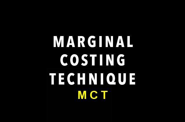 marginal costing techniques