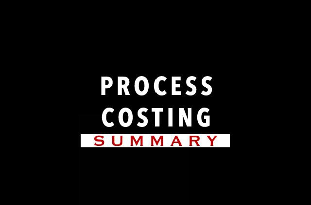 What is process costing?