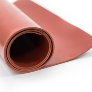 Red Rubber Sheet Roll