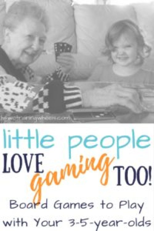 Board gaming really can be an activity for the whole family - even your little people! Find out how to involve your 3-5-year-olds in family board games!
