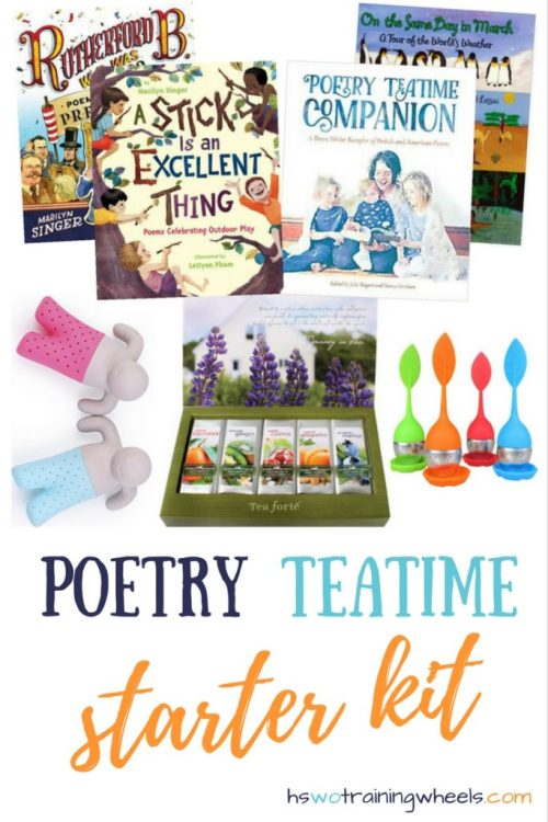 Planning for back to school? Let's get one thing taken care of! Here's a go-to list of what you need to get rolling with your own Poetry Teatime!