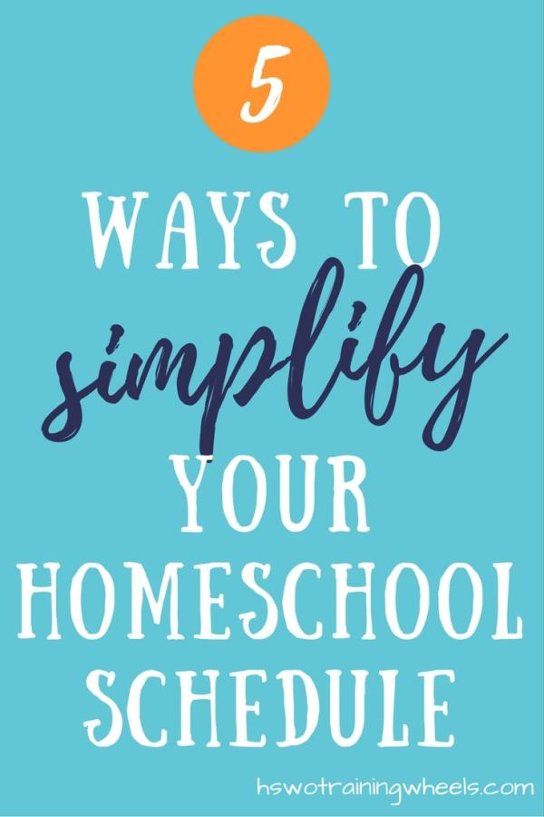 Your homeschool schedule is the framework of your learning environment, and it's easy to over-complicate things. Here are some ways to keep it simple!