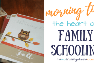 Since we love family schooling - learning all together - morning time is a core ingredient in our homeschool day. Find out what that looks like here!