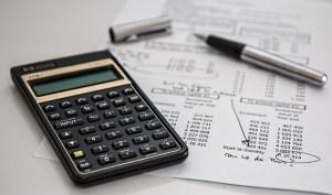 a calculator and a report