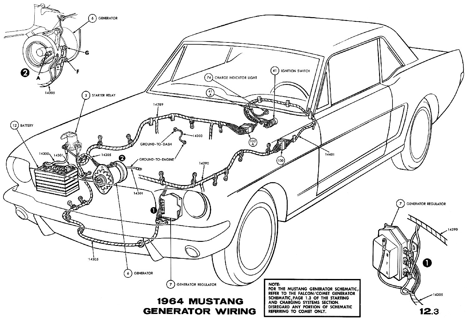 Mustang Gauge Feed Wiring Diagram Schematic