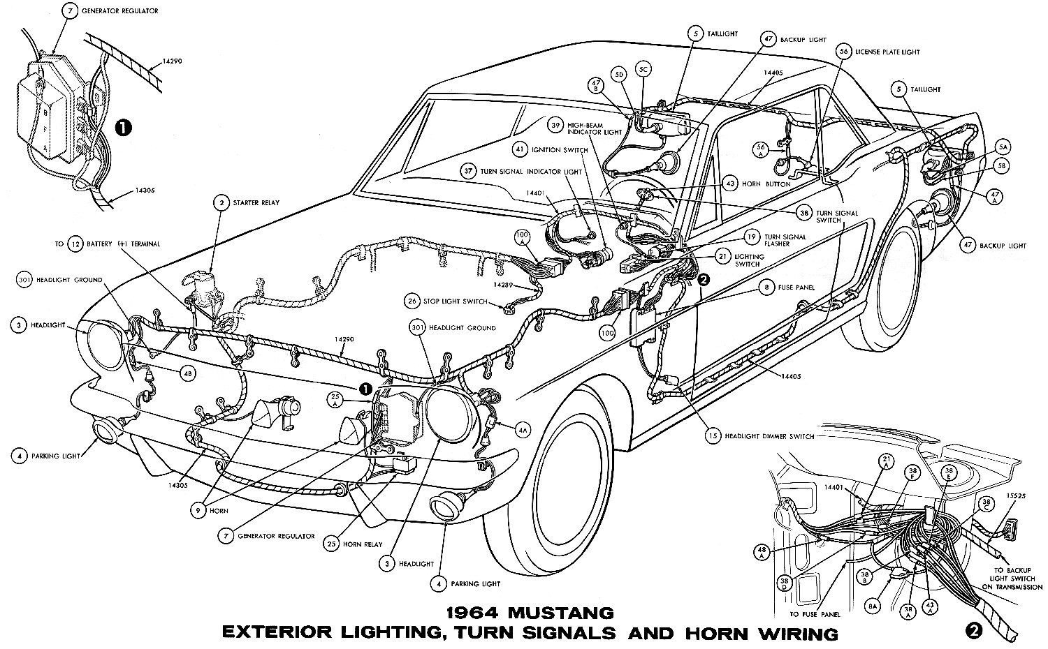 Mustang Exterior Light Wiring Diagram
