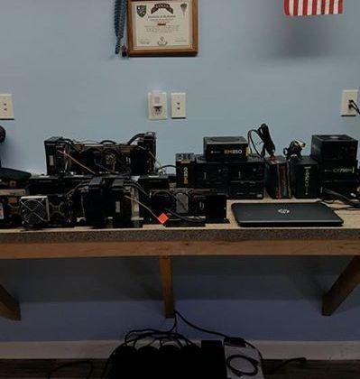 Bitcoin mining setup disassembled …