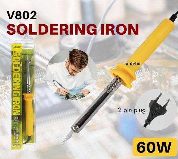 V 802 60W 250V LIGHTWEIGHT SOLDERING IRON FOR HOT IRON WELDING ELECTRONIC CIRCUIT MELT IRON DIY