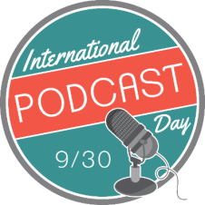 The logo for International Podcast Day