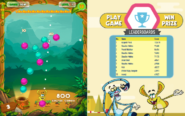 Bespoke HTML5 Games Games for TV Shows Pogo TV Game