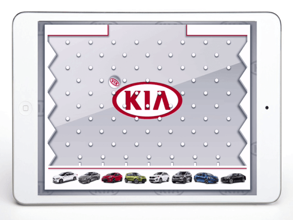 Bespoke HTML5 Games for Car Manufacturers Kia Plinko Game