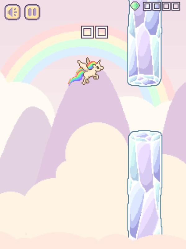 Flappy Unicorn HTML5 Game