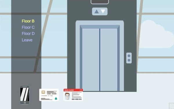 Martian Immigration Nightmare HTML5 Game elevator