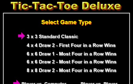 Tic-Tac-Toe Deluxe