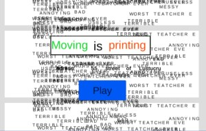 Moving is Printing