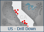 Interactive US Drill Down Map