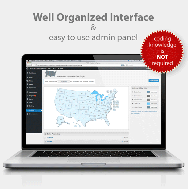 Interactive Us Map Plugin Wordpress - Interactive us map html5