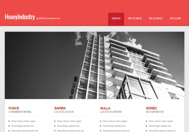 HeavyIndustry [Free Html5 and Css3 Templates]