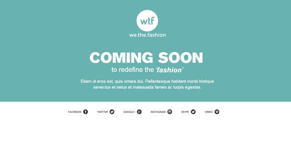 fashion Coming Soon templates