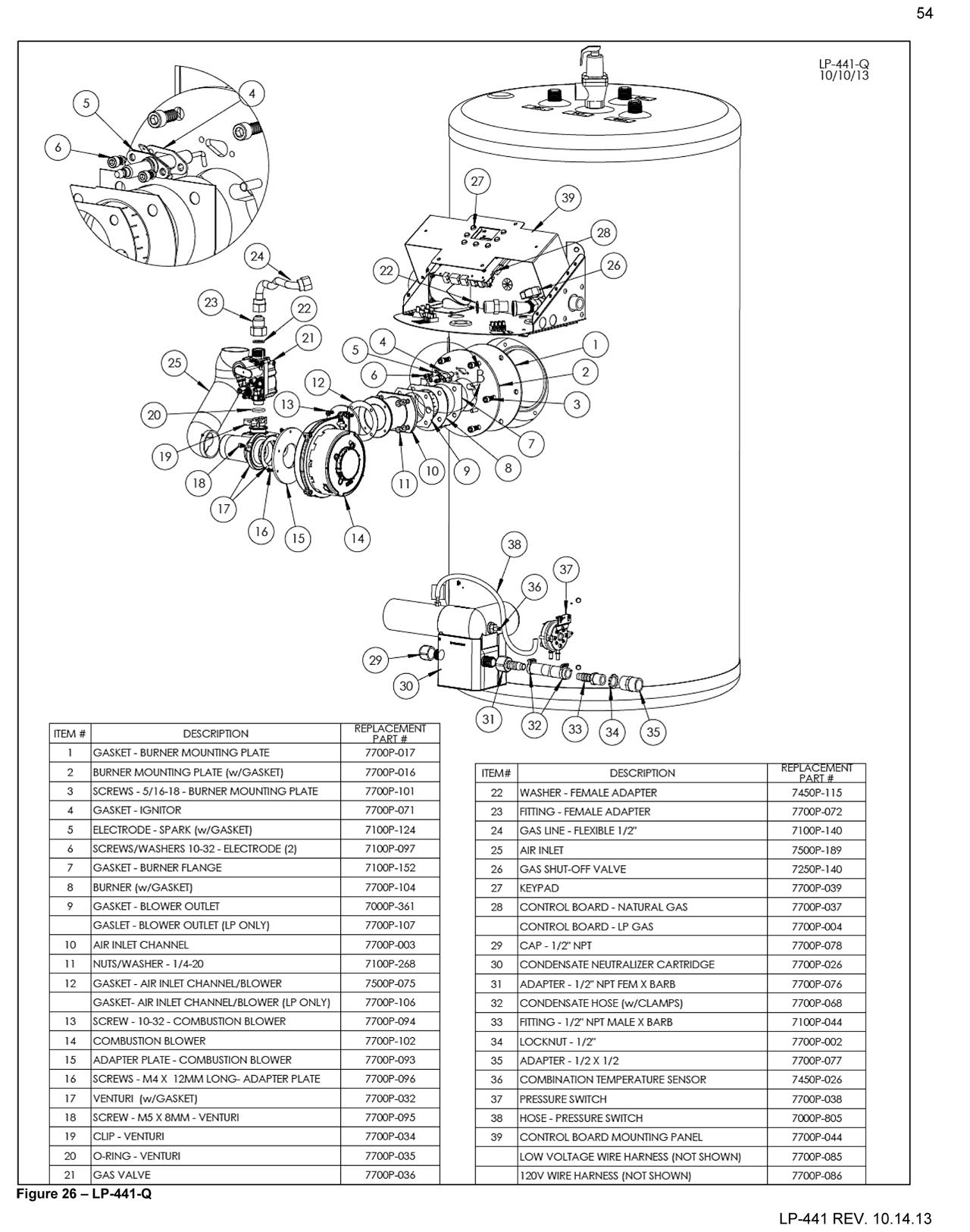 Phoenix Ld Water Heater Parts Drawings
