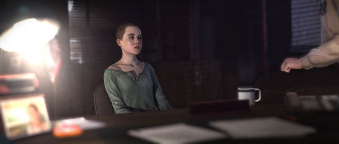 The very first scene starts with an older Jodie, shortly before switching to a younger one.