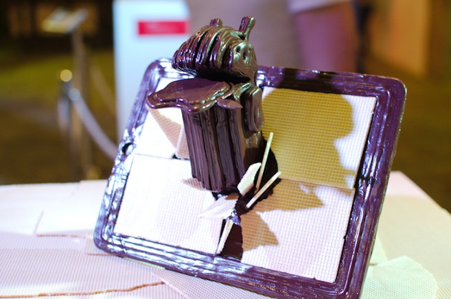 One of the designs from the Chocnology exbhibition.