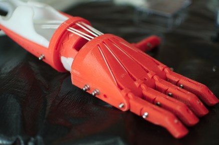 An adult RoboHand ready for use.