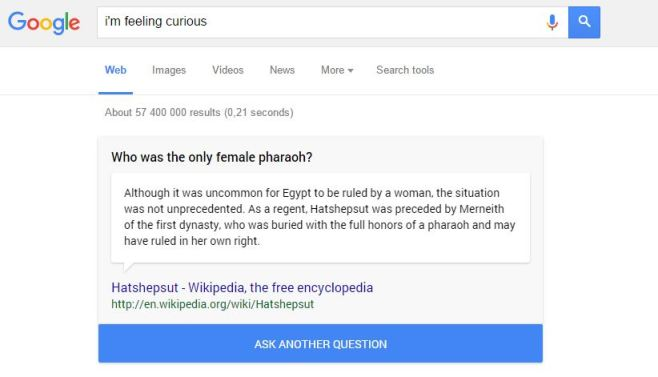 Google now serves up fun facts when you're feeling curious ...