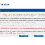 Gauteng parents have until November to apply online for 2017 school space