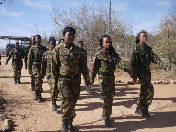 Black Mambas parade