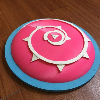 3D Print Rose Quartz shield and sword Steven Universe Pic 1