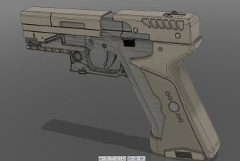 Ghost in the Shell The Major's Thermoptic Pistol 3D Print Pic 5