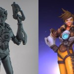 Forget the official Overwatch statue, 3D print your own Tracer miniature