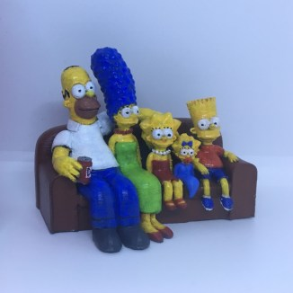 The Simpsons 3D Printed Couch Pic 2