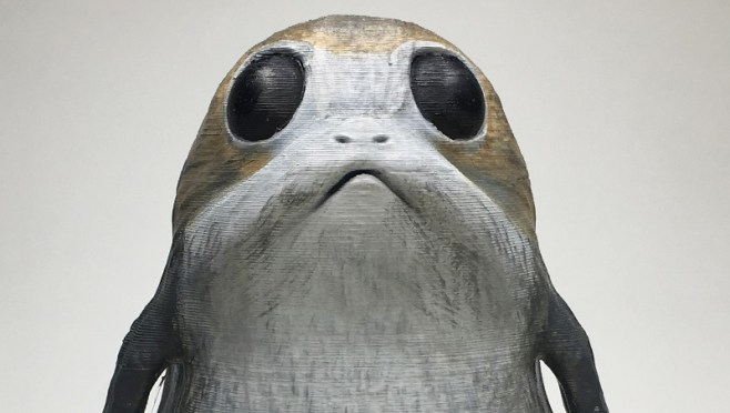 Star Wars The Last Jedi 3D Printed Porg Header