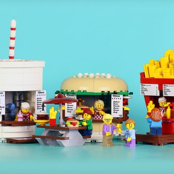 Food Stand Diners by FrostBricks