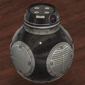 BB-9E Amazon Echo Print Render